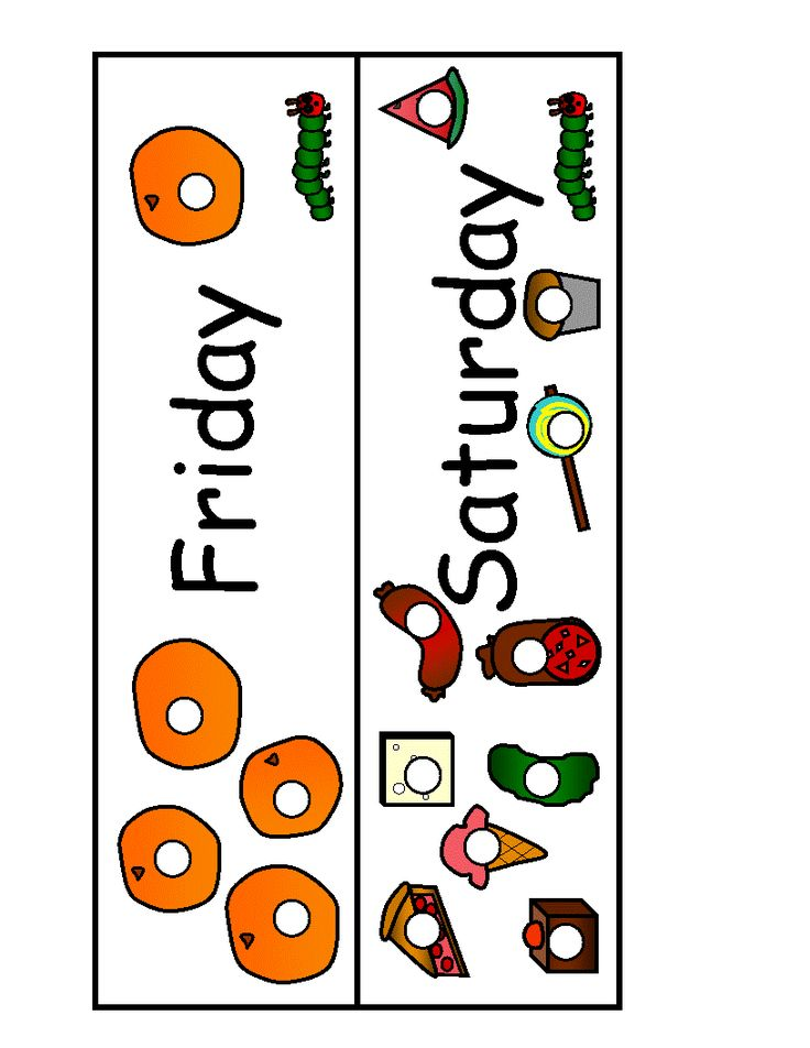 The very hungry caterpillar / Days of the week