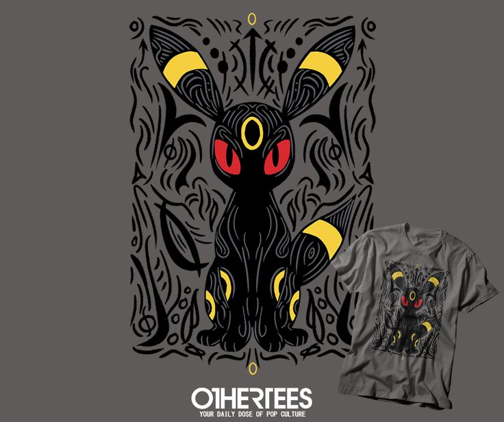 """""""DARK MOON"""" by YIANNIS T-shirts, Tank Tops, V-necks, Hoodies and Sweatshirts are on sale until November 8th at www.OtherTees.com #tshirt #othertees #clothes #popculture #umbreon #pokemon #pokemongo #gaming"""