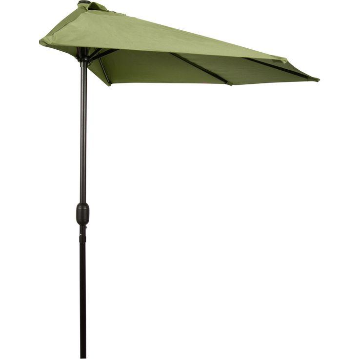 trademark innovations 9 foot patio half umbrella largeteal black size 9foot aluminum - Large Patio Umbrellas