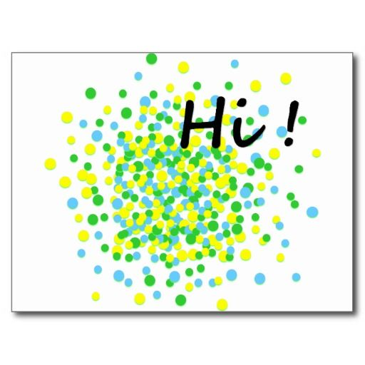 Hi Firework Yellow Green Dots Postcard by @Willa_Art @zazzle #postcard #postage #mail #mailtofriend #justtosayhi #hello #funky #dots #dotspattern #firework #yellowdots #perfectgift #giftforfriend #greeting #traveldiary