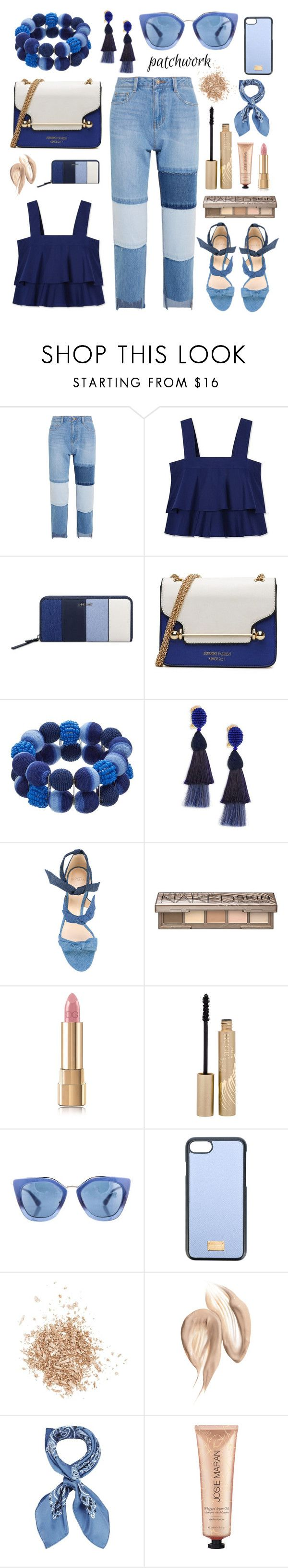 """Senza titolo #6481"" by waikiki24 ❤ liked on Polyvore featuring Steve J & Yoni P, Tory Burch, Nine West, Oscar de la Renta, Alexandre Birman, Urban Decay, Dolce&Gabbana, Stila, Prada and Topshop"