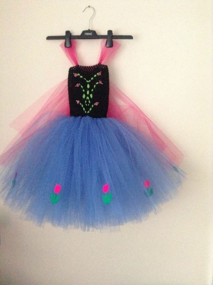 Handmade Disney Anna from Frozen Tutu dress age 4-5 years