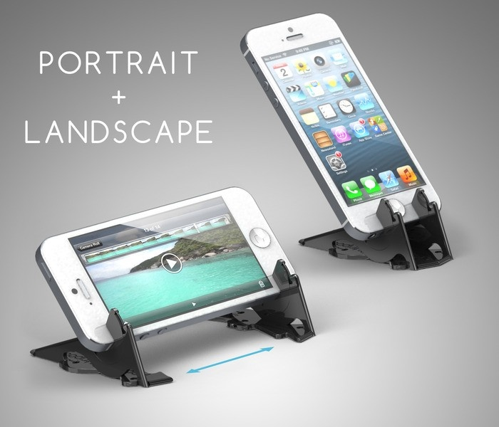 Pocket Tripod for iPhone - folds up to the size of a credit card.