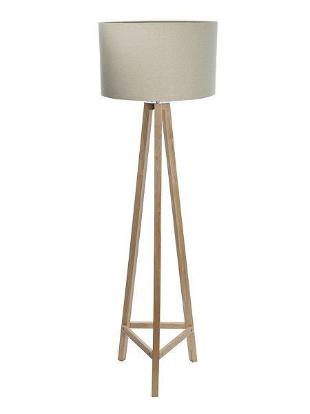Connie light wood tripod floor lamp