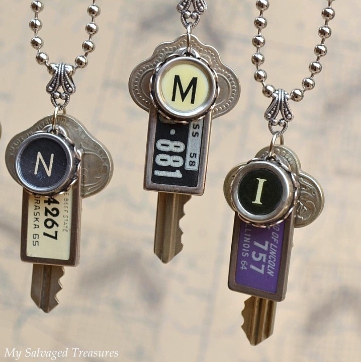 On the Road Again License Plate Necklaces