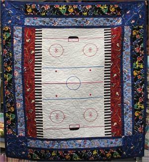 7 best Hockey Quilt images on Pinterest | Hockey games, Hockey and ... : hockey quilt patterns - Adamdwight.com