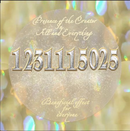 Grabovoi Number Sequence for Presence of the Creator in everything for the benefit of all.
