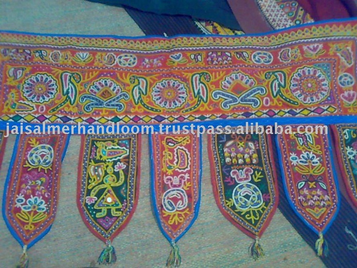 Door Hanging Bandhanwar Toran With Embroidery And Sequins