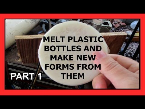 Melt recycling plastic bottles and making new forms (part 1) - YouTube