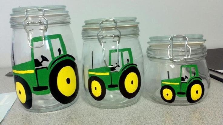 John Deere Tractor Canister Set House Stuff I Wish I Had