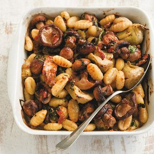 Recept - Oven-gnocchi met paddenstoelen - Allerhande