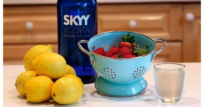 I especially love this drink because it combines 2 of my favorite flavors (lemon and strawberry) with my favorite alcohol: vodka. Vodka mixe...