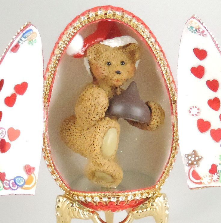 Teddybär mit Candy Kiss, Candy Ornament, Chocolate Kiss Geschenkidee ...