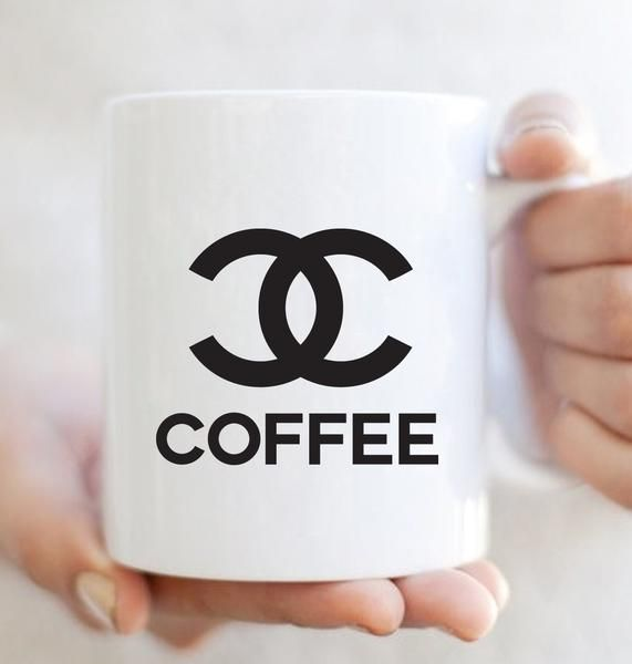 CC Coffee + Fashion Mug by Lettered & Lined available in 11oz or 15oz sizes  www.letteredandlined.com  | coffee lover gift, coffee quote, chic, stylish, style, Fashionista, Fashion Blogger, Fashion Love