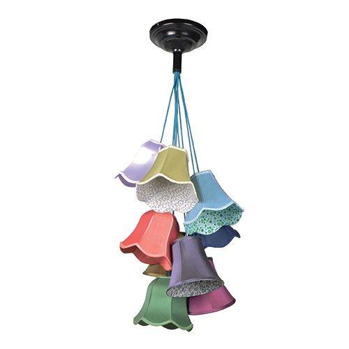 Materiaal kapjes: polyester/katoen mix Lichtbron: E27, max. 25 watt