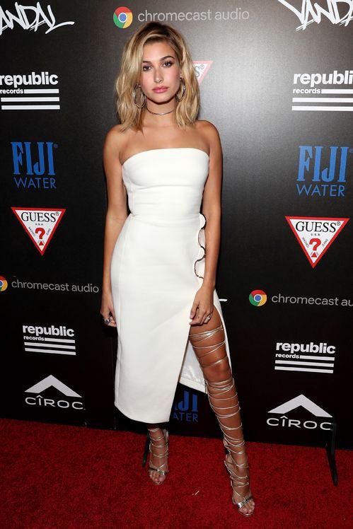Hailey Baldwin aux MTV Video Music Awards à New York le 28