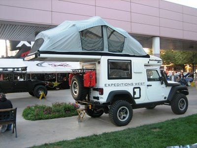 Another cool camper idea!  Once again, a Jeep Wrangler is the most perfect vehicle!