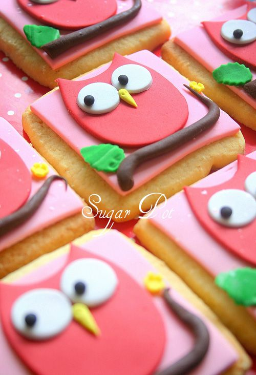 owl idea: Sugar Cookies, Sweet, Owl Cookies, Owl Party, Decorated Cookies, Owl Cakes, Pink Owl