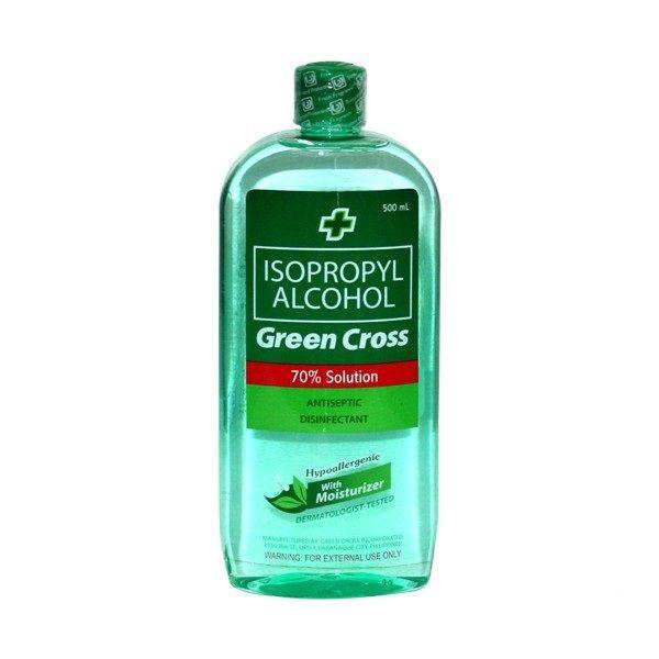 Green Cross 70 Isopropyl Alcohol 500ml Alcohol Medical Photos Green