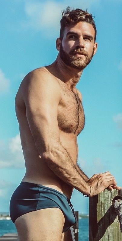 1c35aed1ab Pin by Hugh Jardon on Trunks in 2019   Hairy men, Man swimming, Men