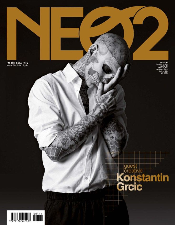 Rick Genest (IZAIO models) cover the March 2012 issue of Neo2 magazine, photographed by Christoph Musiol and styled by Bodo Ernle with pieces by Louis Vuitton.Magazines Coversd, Covers Magazines, Christopher Musiol, Covers Fashion, Body Art, Neo2 Magazines, Beautiful Covers, Rick Genest, Neo2 Spain