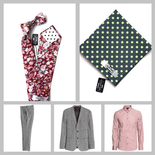 Květinové kravaty a jejich kombinování: 4 inspirativní outfity.  Inspirationan floral tie outfit. Love it.
