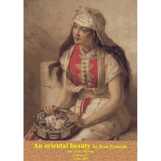 Cross Stitch Model An oriental beauty http://gobelins-tapestry.com/portraits/942-an-oriental-beauty.html