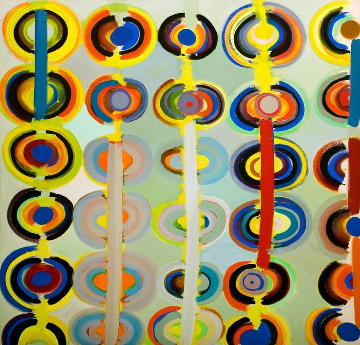 Autumn Rings Andeuze, September 1971 / Terry Frost / 1983 / acrylic on canvas