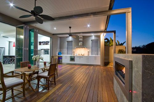Outdoor kitchens can be very handy and stylish