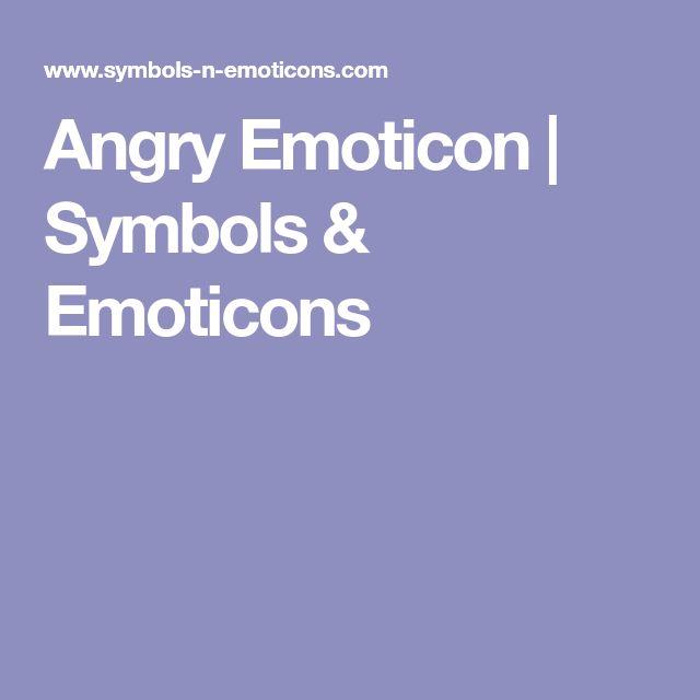 Angry Emoticon | Symbols & Emoticons