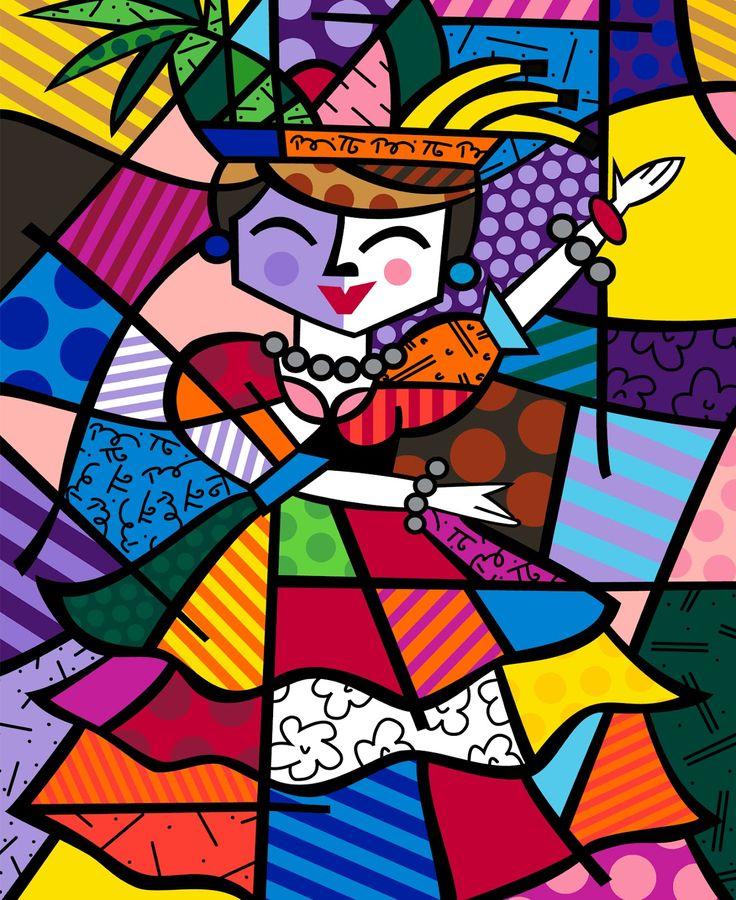 romero britto | Obra de Romero Britto que remete à tropicalidade do Brasil