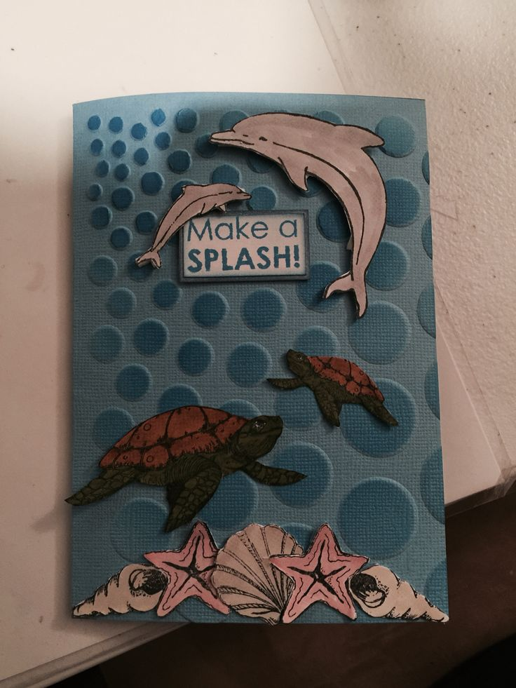 Underwater themed card designed by Kristy Knight-Independent Kaszazz Consultant