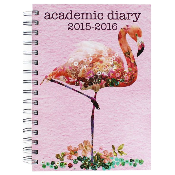A5 Flamingo Academic Diary - 2015-2016 | Academic Diaries at The Works
