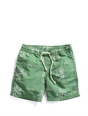 Buy Minti Palm Tree Print Boardies Green
