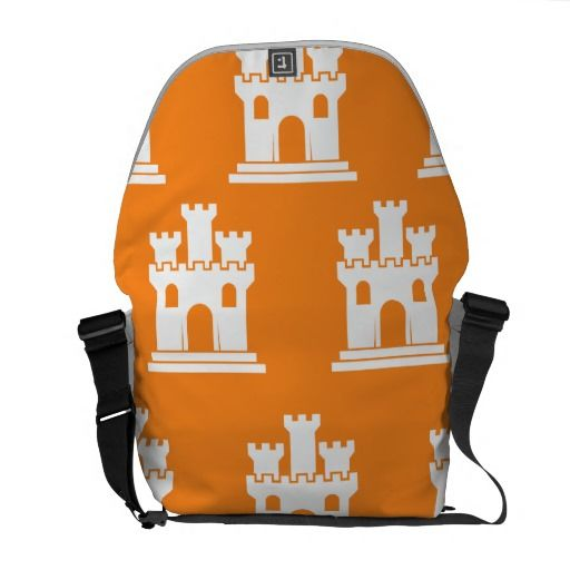 Castle Orange Messenger Bags