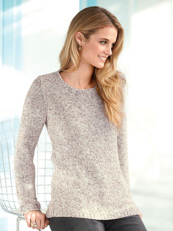 Peter Hahn Rundhals-Pullover aus 100% Baumwolle  mehrfarbig