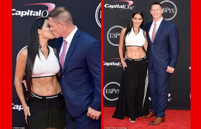 WWE Stars John Cena And Nikki Bella Kiss And Show PDA On The Red Carpet [See Photos]