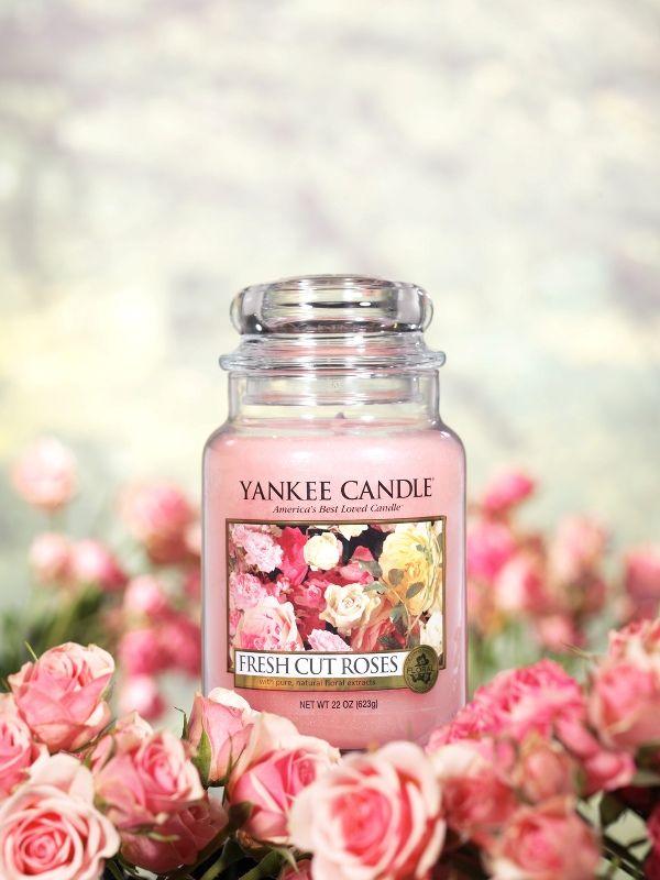 Παραμυθένιο άρωμα φρεσκοκομμένου τριαντάφυλλο. Περισσότερα για το fresh Cut Roses της Yankee Candle εδώ http://www.parousiasi.gr/?s=fresh+cut+roses&submit.x=0&submit.y=0&post_type=product