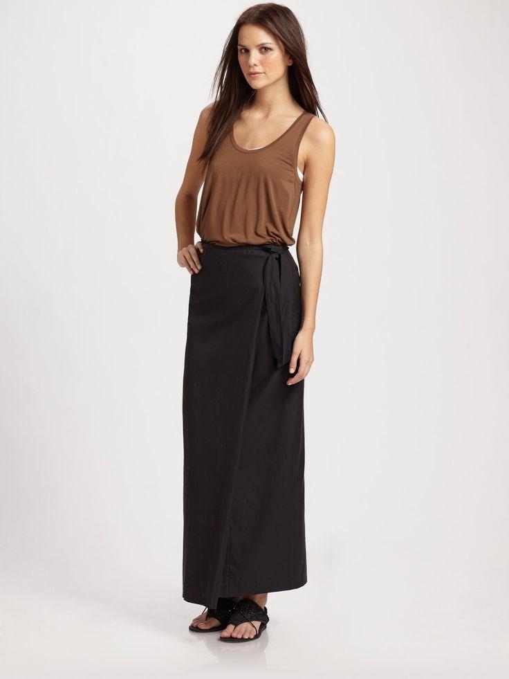 Vince Black Long Wrap Skirt | Dress Journal