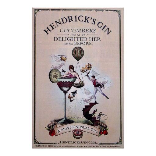 Hendrick's Gin Vintage Liquor Advertising Print