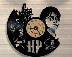 Relógio Disco de Vinil - Harry Potter