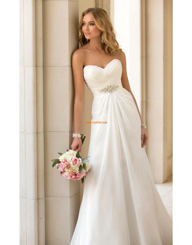 Na podlahu Šifón Bez rukávů Designer Svatební šaty
