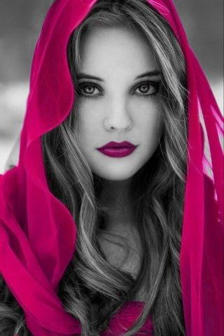 Pink Hooded Beauty Color Splash ~ By Ladee Pink | Beautiful Women | Pinterest | Color Splash ...