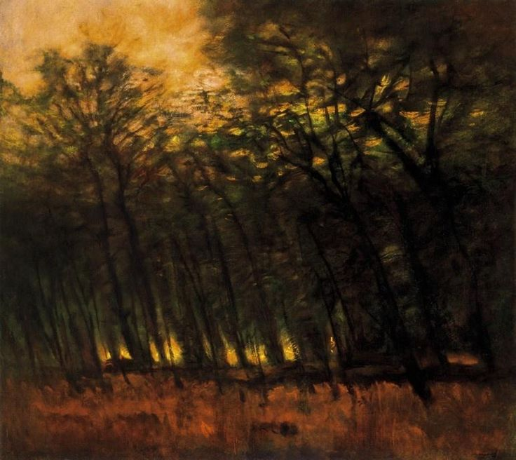 Laszlo Mednyanszky, Fire in the Forest 1910