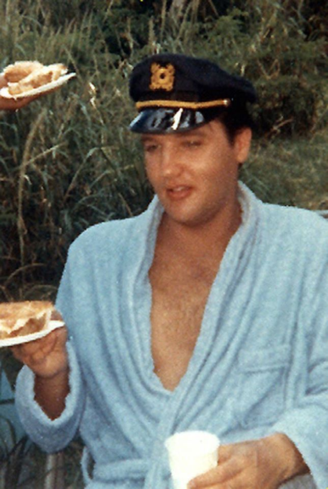 "Elvis on the ""Paradise, Hawaiian Style"" movie set."