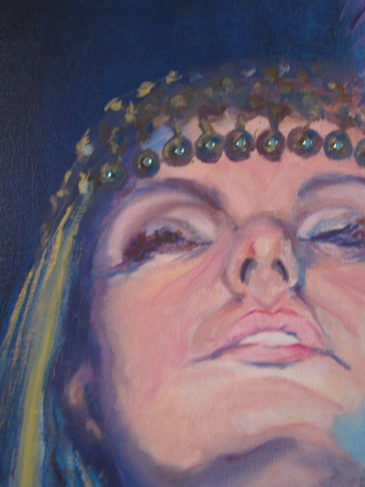 "Detail of ""Adoration"" 100x150cm #Art #Oilpainting #Woman"