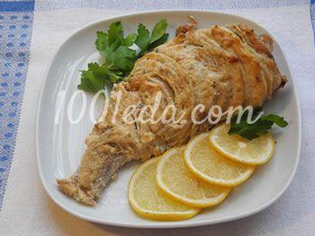 Морской окунь под соусом