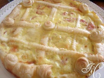 Torta salata ricotta, mozzarella e prosciutto!!!!