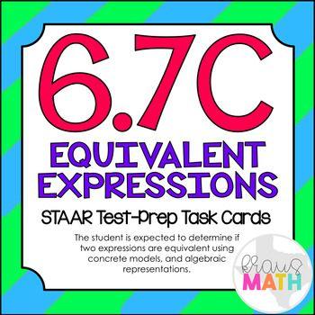 Grade 6 Math STAAR Test Prep Task Cards!