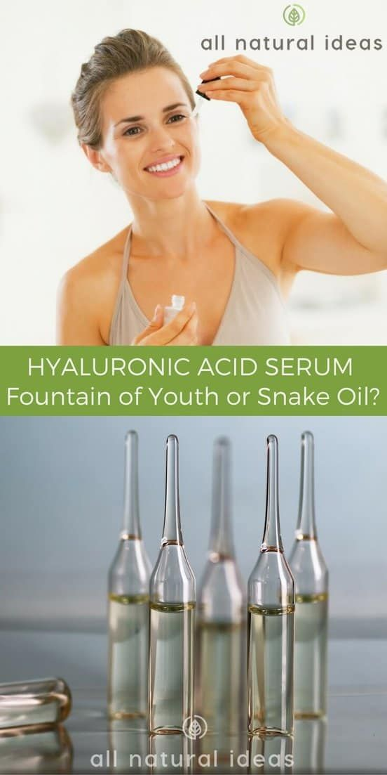 Many skin care bloggers and companies consider pure hyaluronic acid serum the fountain of youth. But can it really make you look younger?#skincare #naturalremedies #allnatural   allnaturalideas.com via @allnaturalideas